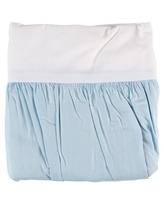 TL Care 100% Natural Cotton Percale Crib Bed Skirt, Blue, Soft Breathable, for Boys and Girls