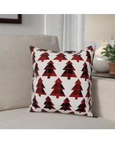 The Holiday Aisle Plaid Trees Throw Pillow THDA8097 Type: Pillow Cover