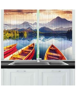 Nature 2 Piece Kitchen Curtain East Urban Home
