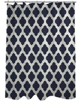 One Bella Casa All Over Moroccan Shower Curtain HMW5340 Color: Navy/Ivory