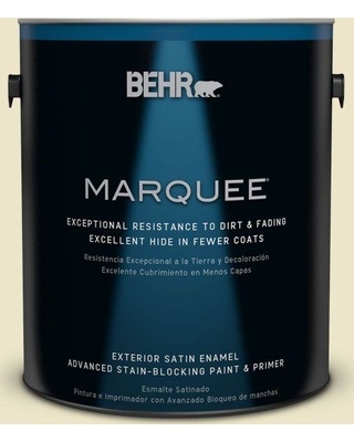 BEHR MARQUEE 1 gal. #M310-2 Proper Temperature Satin Enamel Exterior Paint and Primer in One