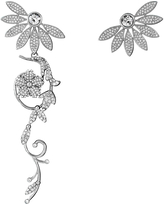 Burberry Crystal Half-daisy Drop Earring And Stud Set In Crystal