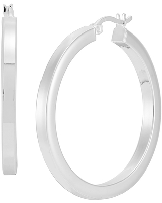 Silpada 'Rise And Shine' Tube Hoop Earrings in Sterling Silver
