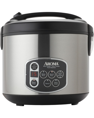 Aroma 20 Cup Digital Multicooker & Rice Cooker - Stainless Steel (Silver)