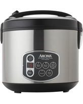 Aroma 20 Cup Digital Rice Cooker - Stainless Steel (Silver)