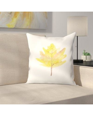 """East Urban Home Jetty Printables Watercolor Leaf Throw Pillow EUHG4308 Size: 16"""" x 16"""""""