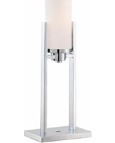Lite Source Caesarea 2-Post Chrome Fluorescent Table Lamp