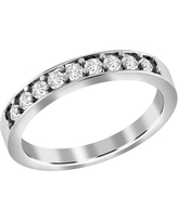 Diamond Gold Round Band Ring by Diacrown (6 - White)