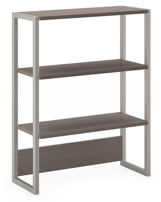 Office by kathy ireland Method Bookcase Hutch, Cocoa (KI70106) | Quill