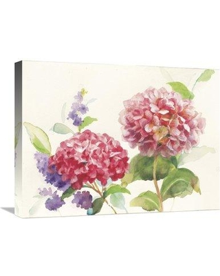 "East Urban Home Watercolor Hydrangea' Watercolor Painting Print ESUM6001 Size: 18"" H x 24"" W Format: Wrapped Canvas"