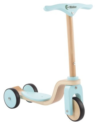 Kids Wooden 3 Wheel Scooter-Fun Balance and Coordination Riding Toy for Girls and Boys by Lil' Rider