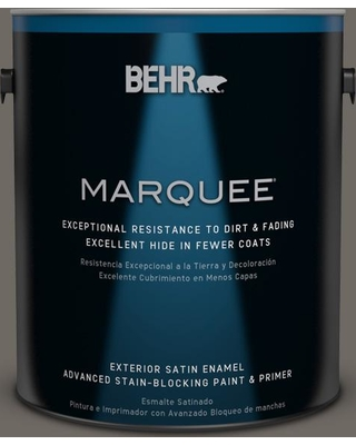 BEHR MARQUEE 1 gal. #PPU24-04 Burnished Pewter Satin Enamel Exterior Paint and Primer in One