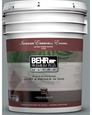 BEHR ULTRA 5 gal. #N450-4 Moonquake Eggshell Enamel Interior Paint and Primer in One