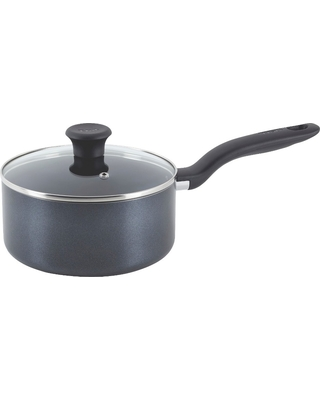 T-fal Simply Cook Nonstick Dishwasher Safe Cookware, 3qt Saucepan with Lid, Black