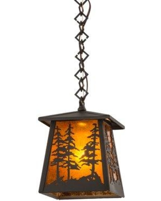 Millwood Pines Ezzell Tall Pines 1-Light Mini Pendant MLWP3969