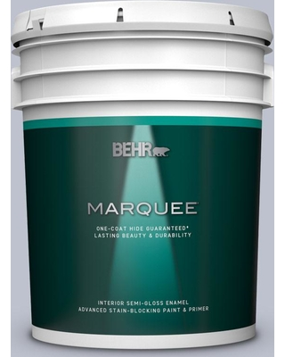 BEHR MARQUEE 5 gal. #S550-2 Powder Lilac Semi-Gloss Enamel Interior Paint and Primer in One