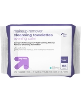 Makeup Remover Cleansing Towelettes - 25ct - Up&Up (Compare to Neutrogena Night Calming Makeup Remover Cleansing Towelettes)
