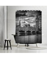 East Urban Home Melanie Viola London Houses of Parliament and Westminster Bridge Shower Curtain ETHH3795