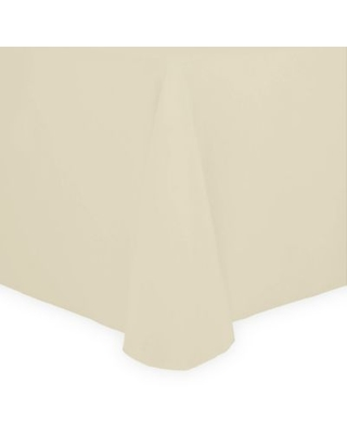 52-Inch x 70-Inch Oval Spun Polyester Tablecloth in Ivory