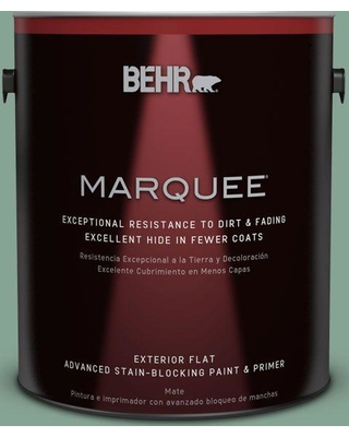 BEHR MARQUEE 1 gal. #T16-12 Modern Mint Exterior Flat/Matte Paint and Primer in One