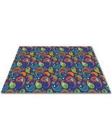 Kid Carpet Paisley with ABC Indoor/Outdoor Area Rug FE775 Rug Size: Rectangle 6' x 9'