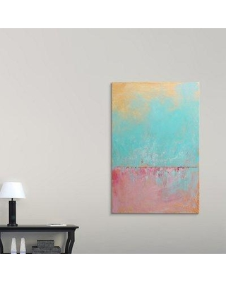 """Great Big Canvas 'Cotton Candy Sky Full of Water' Painting Print 2421240_1 Size: 60"""" H x 40"""" W x 1.5"""" D Format: Canvas"""