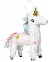Amscan Magical Unicorn Mini Pinata Paper Disposable Centerpieces and Hanging Décor 242126