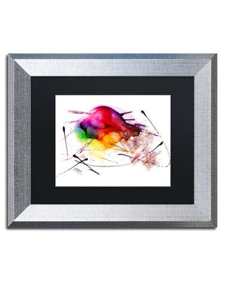 "Trademark Fine Art 'Abstract 02' Framed Painting Print MA0839-S1114BMF / MA0839-S1620BMF Size: 11"" H x 14"" W x 0.5"" D"
