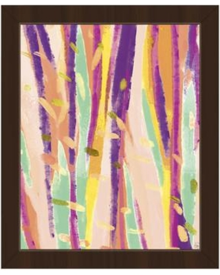 """Click Wall Art 'Flying Leaves' Framed Print of Painting CBS0002882FRA Size: 10.5"""" H x 12.5"""" W Format: Espresso Framed"""