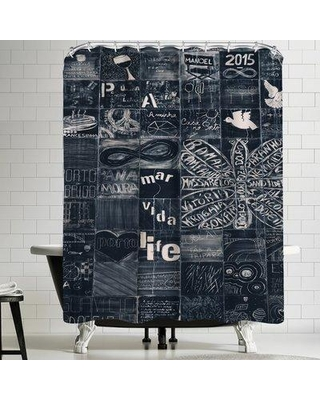 East Urban Home Graffiti Love Shower Curtain ERNI0724