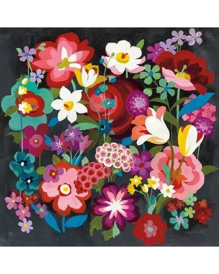 "East Urban Home 'Alpine Florals' Print on Wrapped Canvas ERNI2982 Size: 26"" H x 26"" W x 1.5"" D"