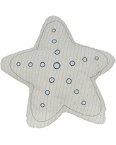Harriet Bee Acrodectes Star Linen Throw Pillow HRBE4533 Color: White