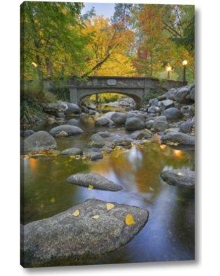 """Millwood Pines 'Or Lithia Park Autumn Reflects' Photographic Print on Wrapped Canvas BI152569 Size: 24"""" H x 16"""" W x 1.5"""" D"""