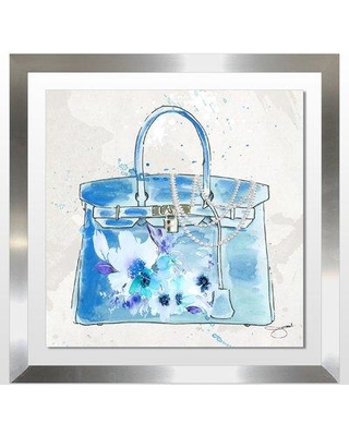 "Picture Perfect International 'Feeling Blue' Graphic Art Print 704-4571 Size: 18"" H x 18"" W x 1"" D Format: Wrapped Canvas"