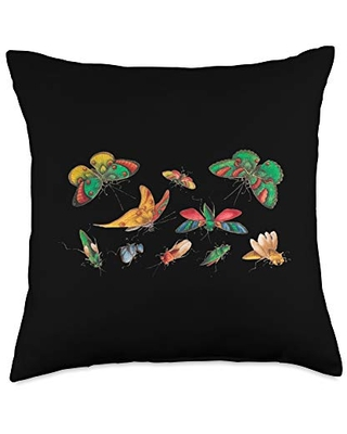 Butterfly Lover Entomology Fun Butterfly Lover Colorful Entomologist Science Throw Pillow, 18x18, Multicolor
