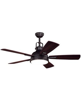 """Williston Forge 52"""" Abraham 5 Blade LED Ceiling Fan with Remote Light Kit Included W001133163"""