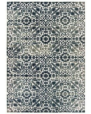 Amazing Deal On House Of Hampton Laurie Power Loom Navy Black Rug X111715119 Rug Size Rectangle 9 10 X 12 10
