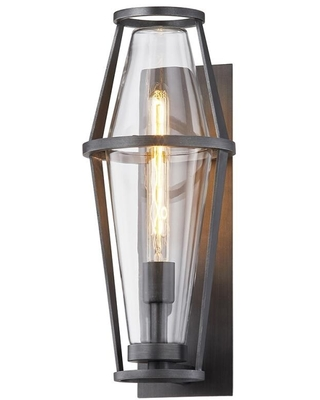 Troy Lighting Prospect 7.5-in W 1-Light Graphite Industrial Wall Sconce   B7612