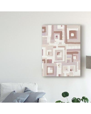 "George Oliver 'Harbor Windows VIII Blush' Acrylic Painting Print on Wrapped Canvas X111350769 Size: 24"" H x 18"" W 2"" D"