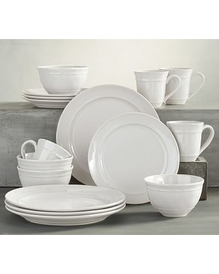 Huge Deal on Cambria Dinnerware, 16-Piece Cereal Bowl Set, Stone