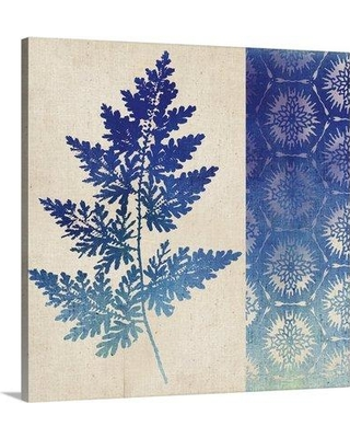 "Great Big Canvas 'Indigo Leaves III Graphic Art Print 2433718_1 Format: Canvas Size: 20"" H x 20"" W x 1.5"" D"