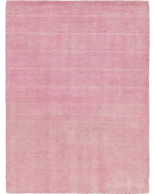 Unique Loom Solid Gava Solid Pink 5' 3 x 7' 5 Area Rug