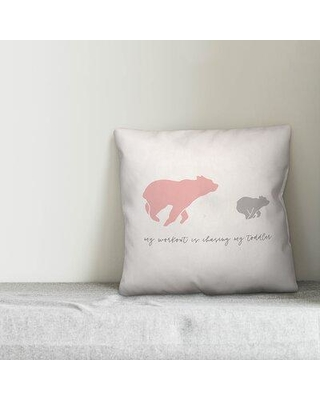 """Isabelle & Max Galeton My Workout Is Chasing My Throw Pillow W000497176 Fill Material: Polyester/Polyfill Size: 18"""" x 18"""""""
