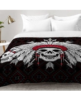 East Urban Home Geometric Indian Skull Comforter Set EAHU7560 Size: Twin XL