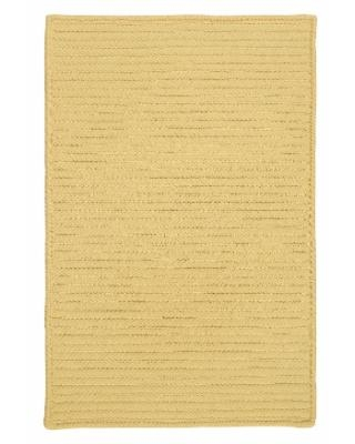 Simple Home Solid Rug, Size 8'W x 8'L in Banana by Colonial Mills