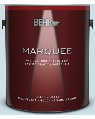 BEHR MARQUEE 1 gal. #530E-2 Cool Sky Matte Interior Paint and Primer in One