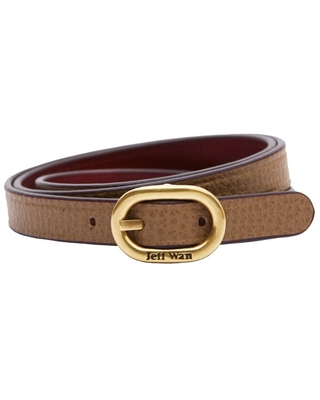 Jeff Wan - Reversible Leather Bracelet With Buckle Closure Clay