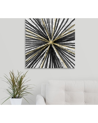 """GreatBigCanvas """"Black and Gold""""by Linda Woods Canvas Wall Art, Multi-Color"""