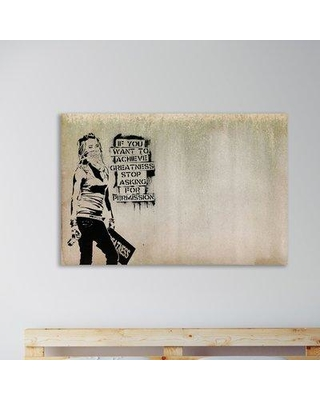 """Wrought Studio 'Greatness' Graphic Art Print on Wrapped Canvas BF040714 Size: 16"""" H x 24"""" W x 1.5"""" D"""
