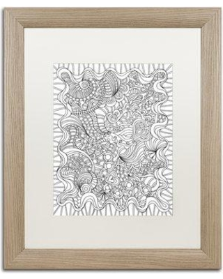 "Trademark Art ""Mixed Coloring Book 43"" by Kathy G. Ahrens Framed Graphic Art ALI3468-T1 Matte Color: White Size: 20"" H x 16"" W x 0.5"" D"